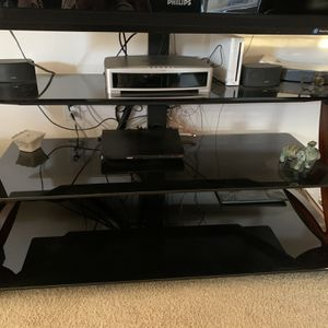Glass Shelving Unit/TV Stand for Sale in Los Angeles, CA