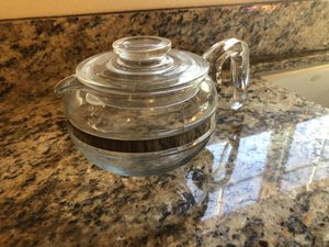 Pyrex Vintage Glass Tea Kettle Coffee Pot Teapot 6 cups for Sale in Los Angeles, CA