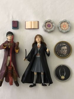 Harry Potter & Hermione Granger Figures Around 5 Inches Tall Both For $30 for Sale in Reedley,  CA