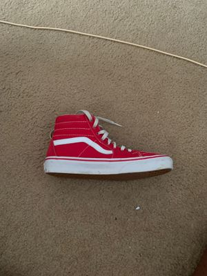 red high top vans for Sale in Fort Bragg, NC