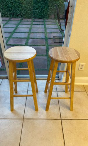 Pair of solid wood stools for Sale in Miami, FL