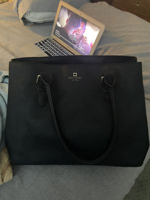 Kate Spade large black leather bag for Sale in Columbia, MD