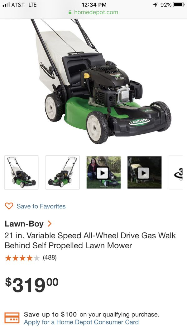 Lawn-boy 21 in  Variable Speed All-Wheel Drive Gas Walk Behind Self  Propelled Lawn Mower for Sale in White Marsh, MD - OfferUp