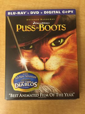 Puss in Boots Blue-Ray DVD for Sale in Dearborn, MI