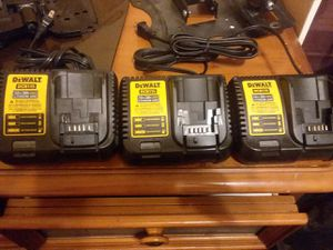 3 Dewalt chargers for Sale in Chicago, IL