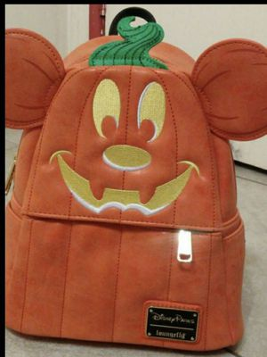 Disney Parks loungefly halloween Mickey pumpkin backpack for Sale in Los Angeles, CA