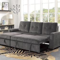 💵39 DOWN 💵 🌸Carolina Gray Reversible Sleeper Sectional with Storage🌸 for Sale in Fort Worth,  TX