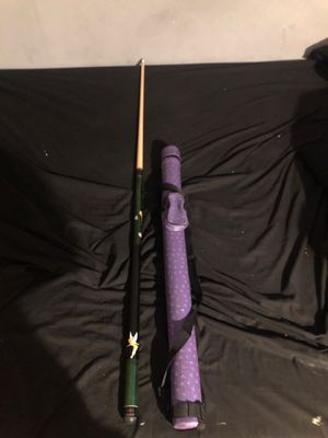 Tinker bell pool stick with single stuck case for Sale in Parkville, MD