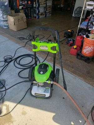 Greenworks 2000 psi electric pressure washer for Sale in Lake Elsinore, CA