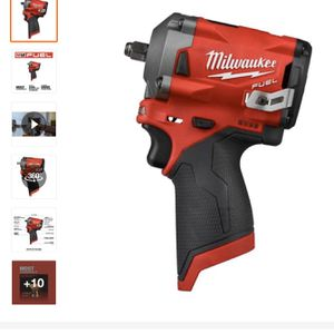 Milwaukee-M12-FUEL-12-Volt-Lithium-Ion-Brushless-Cordless-Stubby-3-8-in-Impact-Wrench-Tool-Only for Sale in Plainfield, NJ