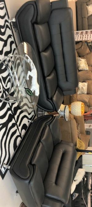 🍻$39 Down Payment 💥  Enna Black Sofa & Loveseat | U2701 for Sale in Jessup, MD