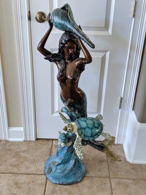 Bronze mermaid fountain statue for Sale in Sanford, FL