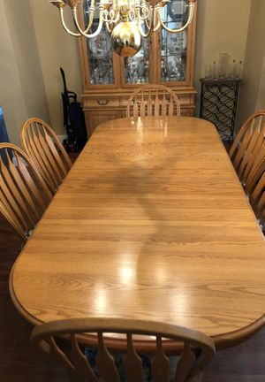 Solid Oak Dining Room Table for Sale in Tracy, CA