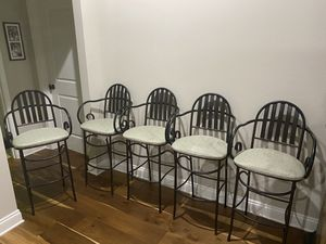 Black Iron Bar Chairs for Sale in Gulf Breeze, FL