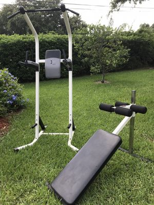 Linex-X 615 Power Workout Tower + York Barbell Sit Up Station for Sale in Vero Beach, FL