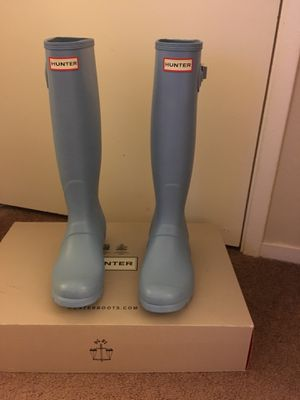 100% Authentic Brand New in Box Hunter Original Tall Rain Boots / Color Pale Blue / Women size 7 and women size 8 available for Sale in Walnut Creek, CA