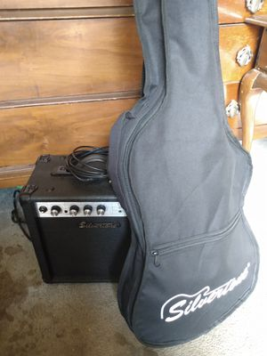 Silvertone electric quitar and speaker for Sale in Oakley, CA