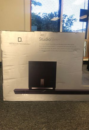 StudioSlim Home Theater Sound Bar and Subwoofer (Wireless) for Sale in San Diego, CA