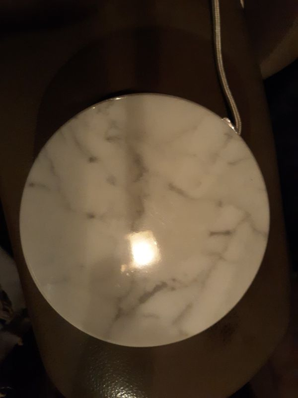 White Marble Qi charger
