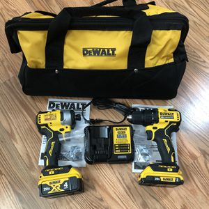 DeWalt ATOMIC 20-Volt MAX Cordless Brushless Compact Drill/Impact Combo Kit for Sale in Happy Valley, OR