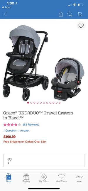 Graco uno2duo single or double travel system with extra seat for Sale in Henderson, NV