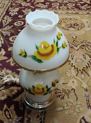 Antique Handpainted Electric Hurricane Lamp for Sale in Graham, NC