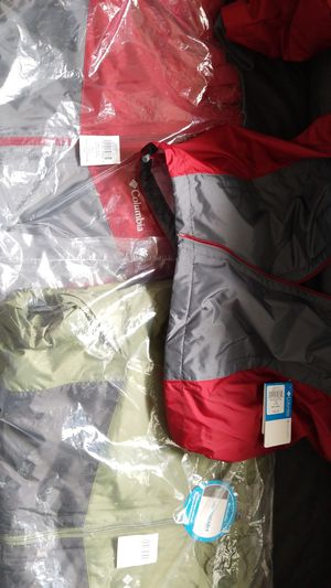 Columbia brand ALL weather jackets WITH HOODIE attached. Made in Vietnam. for Sale in Kissimmee, FL