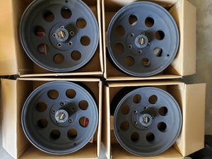 Pro Comp 69 Series Vintage, 16x8 Wheel with 5 on 4.5 Bolt Pattern - Flat Black for Sale in Corona, CA