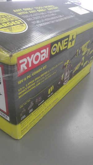 Ryobi P1819 18V 6-pc. Combo Kit w. Battery Charger and Tool Bag - New for Sale in Oakland Park, FL