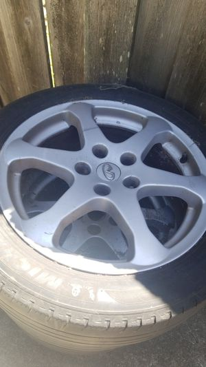 Tires rims for g35 size 225 50 17 for Sale in HILLTOP MALL, CA