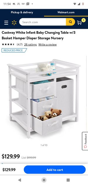 New Infant Diaper Changing Table with Storage for Sale in Los Angeles, CA