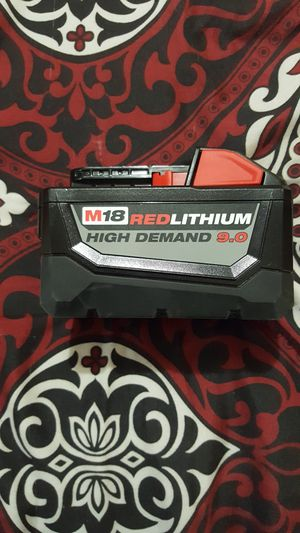 Milwaukee M18 18-Volt Lithium-Ion High Demand Battery Pack 9.0Ah for Sale in Lodi, CA