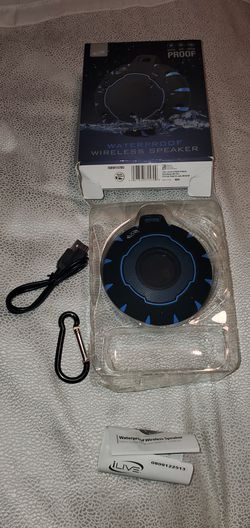 iLive Shock & Waterproof Bluetooth Wireless Speaker - Blue/Black ISBW157BU Z1 for Sale in Portland,  OR
