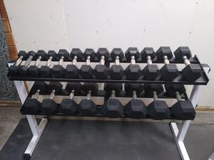 Hampton Urethane Dumbbell Set and Rack for Sale in Chula Vista, CA