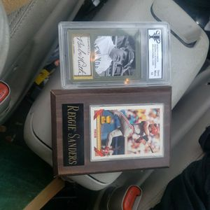 2 Baseball Cards, Bane Ruth Mint Condition And Reggie Sanders for Sale in Columbus, OH