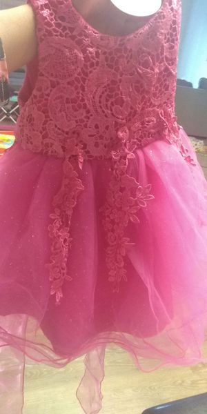 Beautiful hot pink baby dress for Sale in Rochester, MN