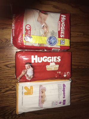 Newborn diapers and size one diapers for Sale in Columbus, OH
