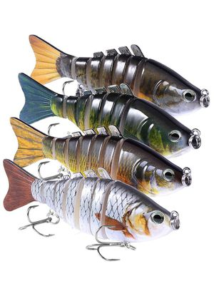 Multi Jointed Fishing Lures Lot of 4 for Sale in San Antonio, TX