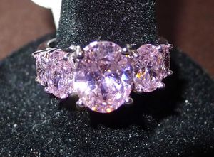 SIZE 9 Geometric Pink Sapphire 925 Silver Plated Fashion Jewelry Ring for Sale in San Jose, CA
