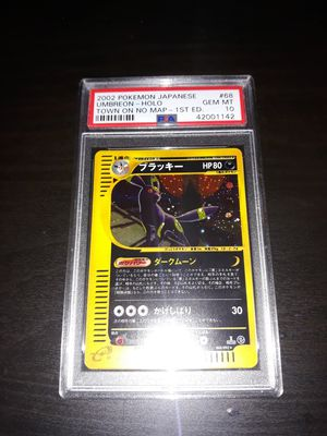 Pokemon Umbreon Japanese Town on No Map 1ED PSA10 GEM Mint 068/092 for Sale in Queens, NY