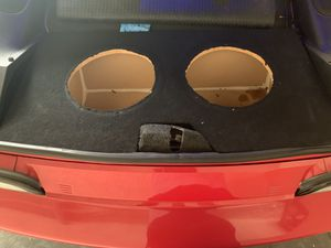 Camaro subwoofer box two 12 inch for Sale in Los Angeles, CA