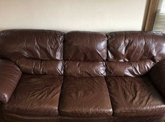 Comfiest leather couch EVER! for Sale in Seattle,  WA