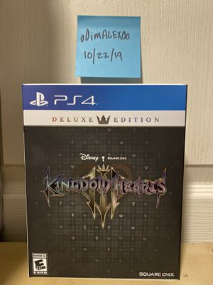 ***OPENED*** Deluxe Edition Kingdom Hearts 3 (PS4) for Sale in Modesto, CA