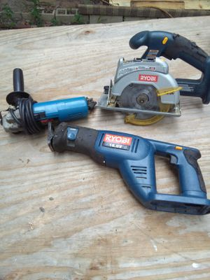 Ryobi Skill saw Walsall grinder charger and battery for Sale in Kolin, LA