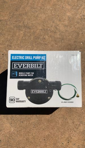 Everbilt electric drill pump kit for Sale in Glendale, AZ