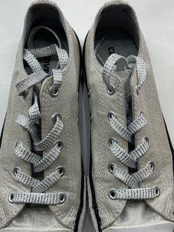 Silver Sparkles Size 3 Coverse for Sale in La Grange Park,  IL