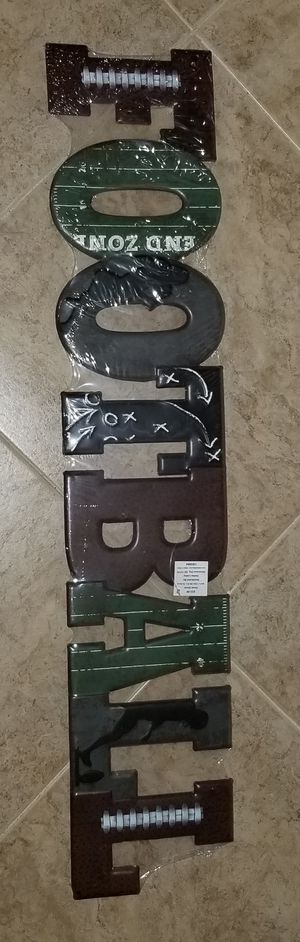 Metal FOOTBALL Wall Decor NEW for Sale in Boca Raton, FL