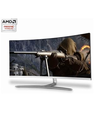 """34"""" Curved Widescreen Gaming Monitor (3440x1440) with AMD Freesync 