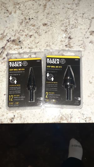 Klein Tools Step Drill Bits #11 and #14 for Sale in Corona, CA