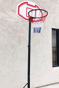 "(New In Box) $50 Kids Junior Sports Basketball Hoop 28x19"" Backboard, Adjustable Rim Height 5' to 7' for Sale in La Mirada,  CA"